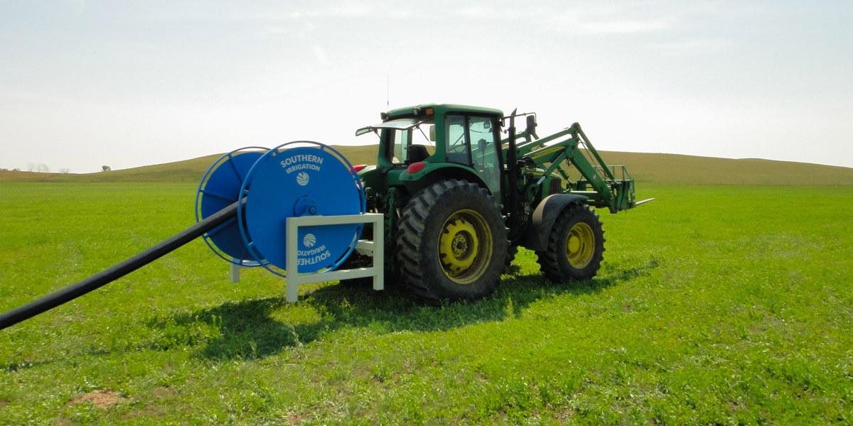 hannay reel on tractor pulling hose