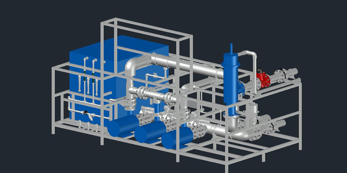 greenhouse 3D drawing of pump autoCAD